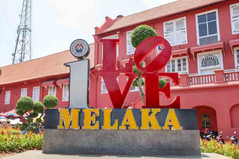 things to do in Melaka Malaysia, l love mekala sign
