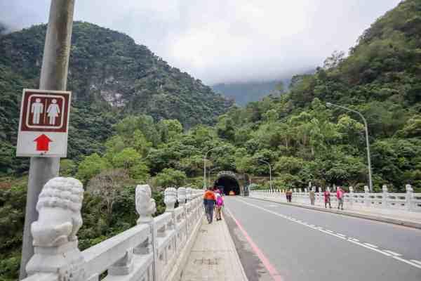 Taroko National Park Taiwan bridge bus stop