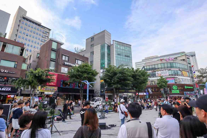 South Korea itinerary, hongdae neighbourhood seoul