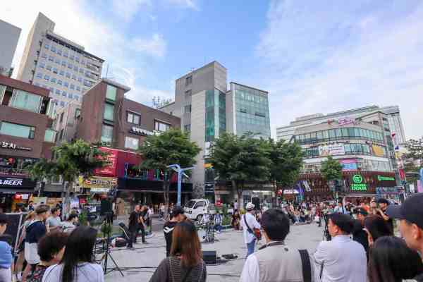 free things to do in Seoul - hongdae neighbourhood seoul