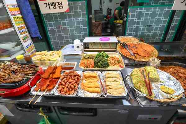 street food from tongin market seoul