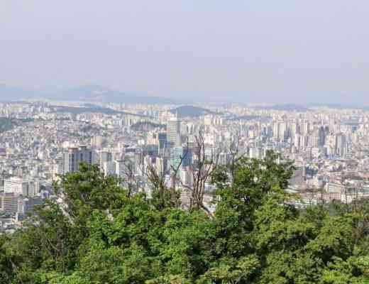 view of seoul from namsan hill