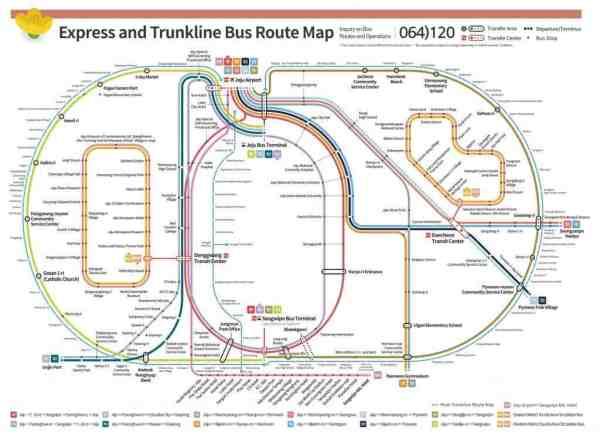 Jeju Island Bus Map