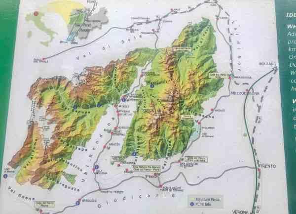 San Vili Pathway Trek Map