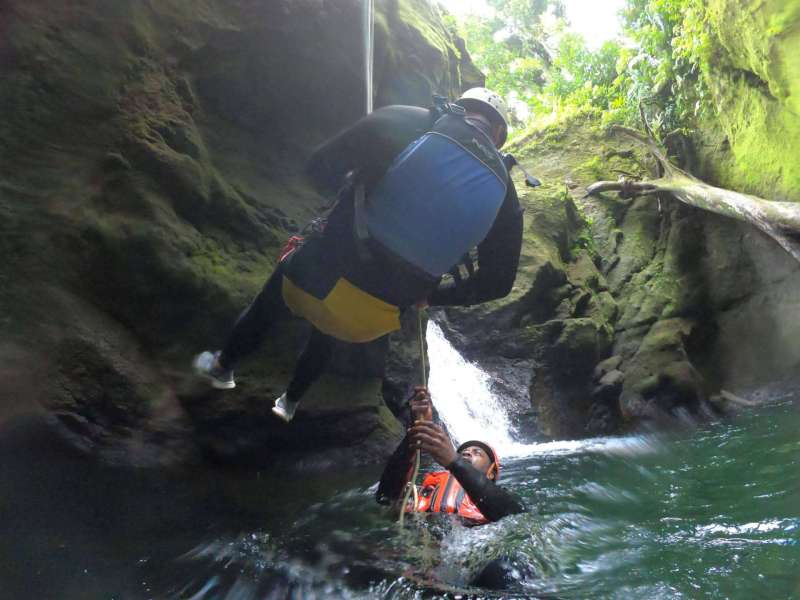 unique things to do in Dominica, Canyoning with Extreme Dominica