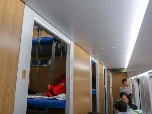 train travel in china, third class overnight train carriage on china train