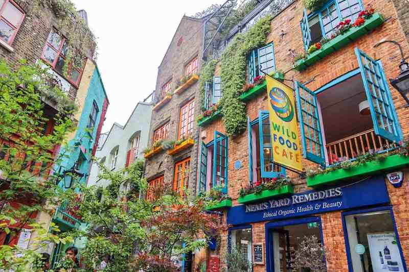 Colourful Neals Yard Buildings | covent garden london guide
