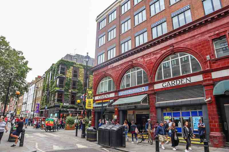covent garden tube station | covent garden london guide