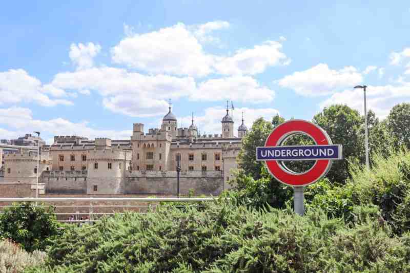 Tower of London and Tube Station Sign | London River Thames Walk