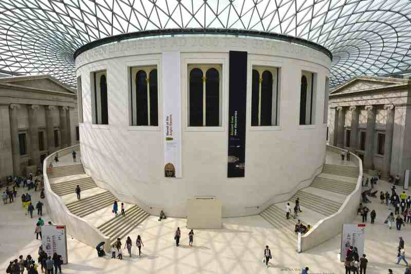 The British Museum inside with glass ceiling | Covent Garden London Guide