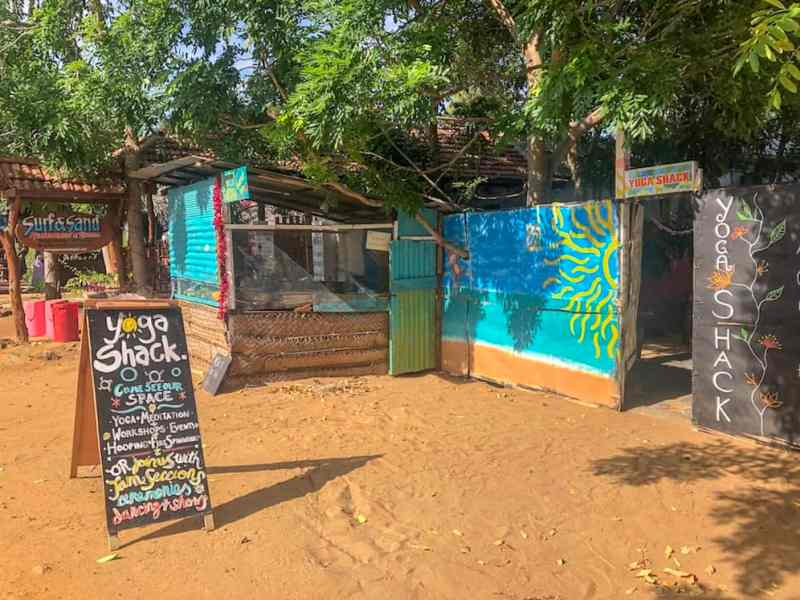 Things to do in Arugam Bay, yoga shack outside in Arugam Bay
