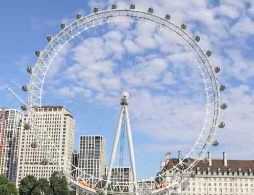 View of London Eye and River Thames