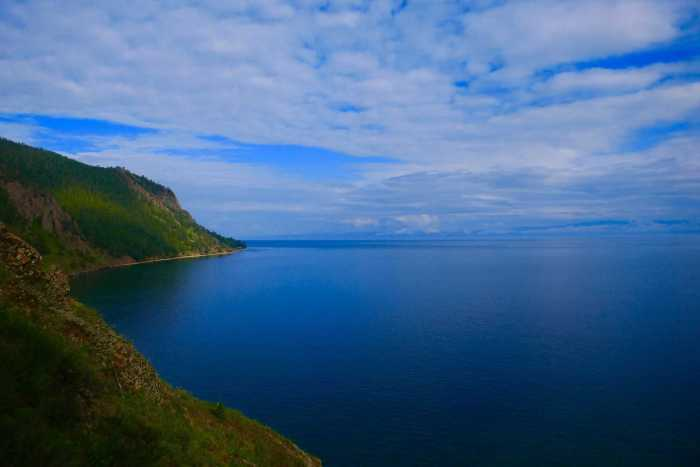 Lake Baikal in Russia with blue sky weather in July and August