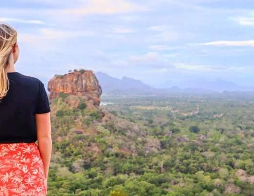 ellie quinn solo in sri lanka opposite sigiriya rock | solo female travel in Sri Lanka