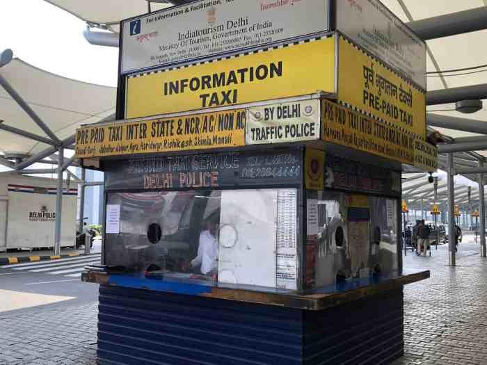 prepaid taxi delhi airport sim card in india