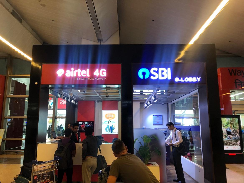Sim card in India, Delhi Airport Airtel