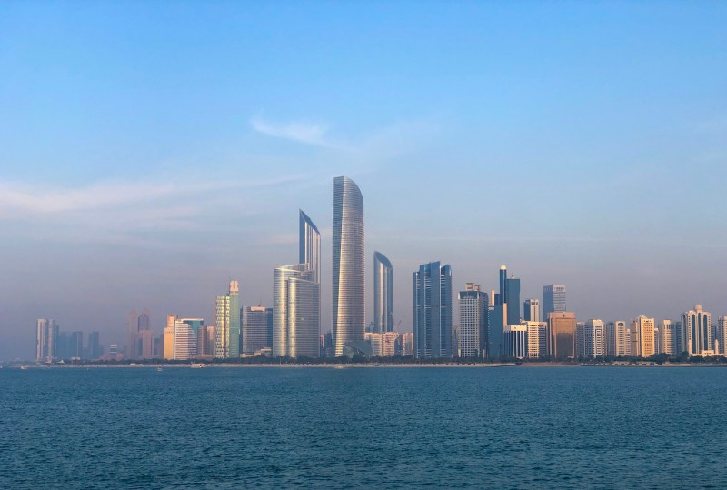 Abu Dhabi Skyline | best places to travel in Asia December and January