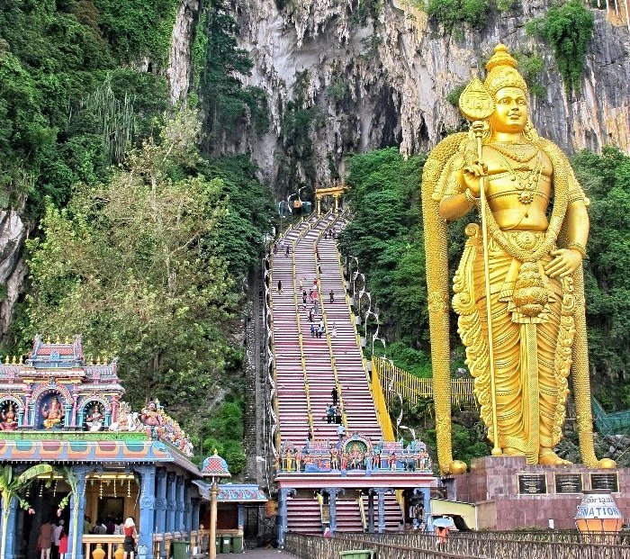 batu caves steps | best places to travel in December and January