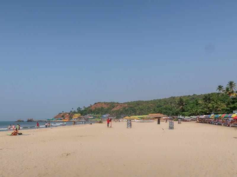 Arambol Beach Sand and Ocean | best beaches in Goa for foreigners