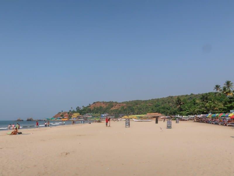 beaches in Goa for foreigners, Arambol Beach Sand and Ocean
