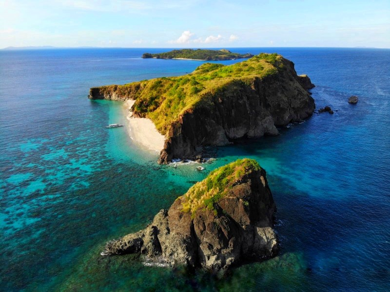 Caramoan islands from above and ocean | best places to travel in Asia December and January