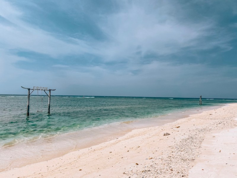 Bali Lombok itinerary, Swing on Gili T