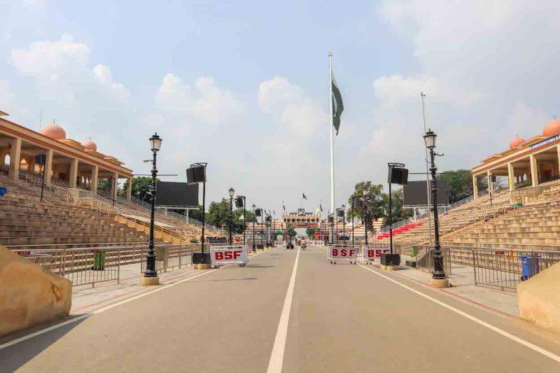 Stadium Crossing Wagah Border India Pakistan on foot