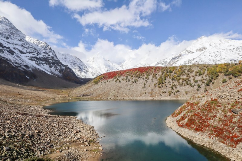 Rama Lake and snow capped mountains | Pakistan itinerary