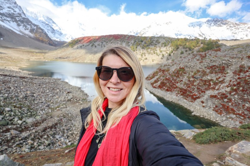 ellie quinn at Rama Lake | Pakistan travel tips