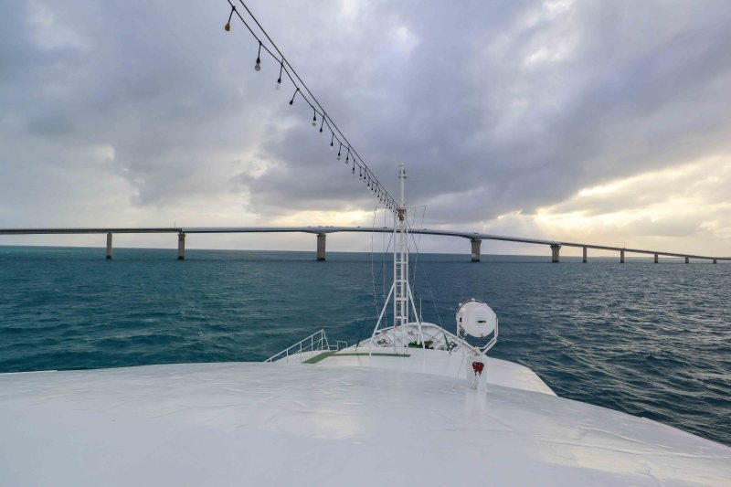 Japans longest toll free bridge from boat | things to do in Miyakojima island