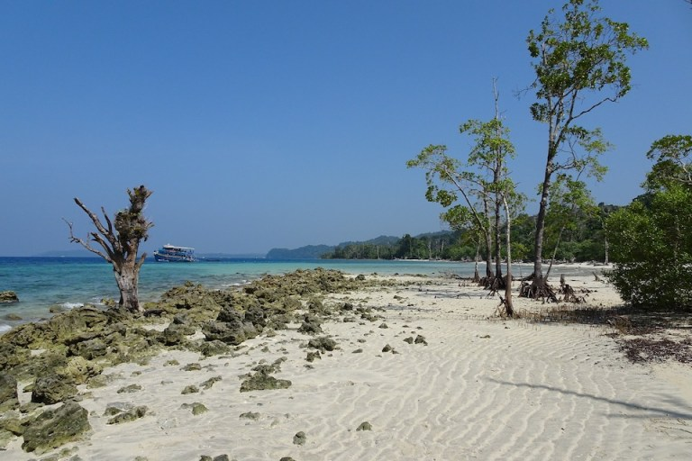 best places to visit in India, white sand beach on Andaman islands