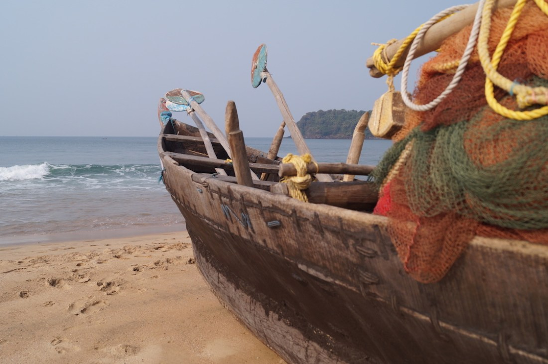Agonda Beach Boat | best beaches in Goa for foreigners