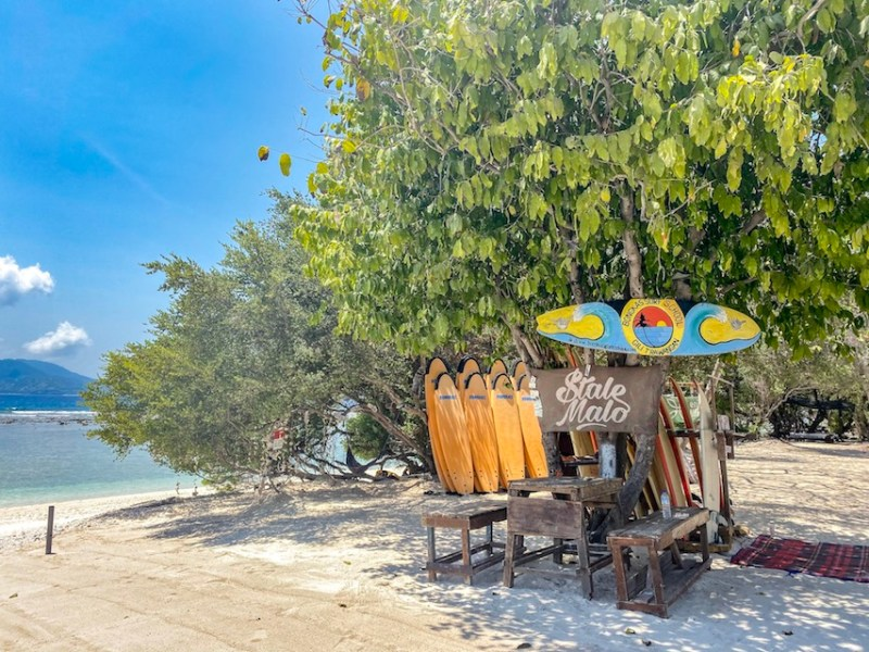 surf school Gili T   things to do in Gili T