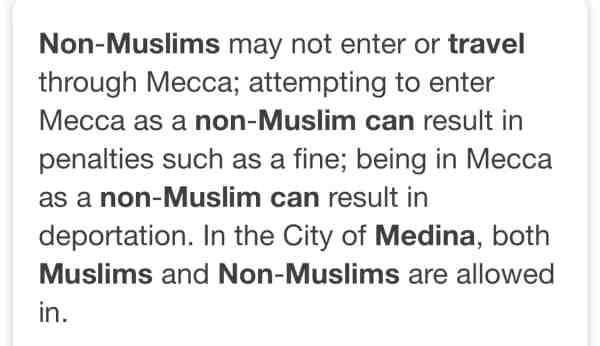 Can non-muslims visit Madinah?