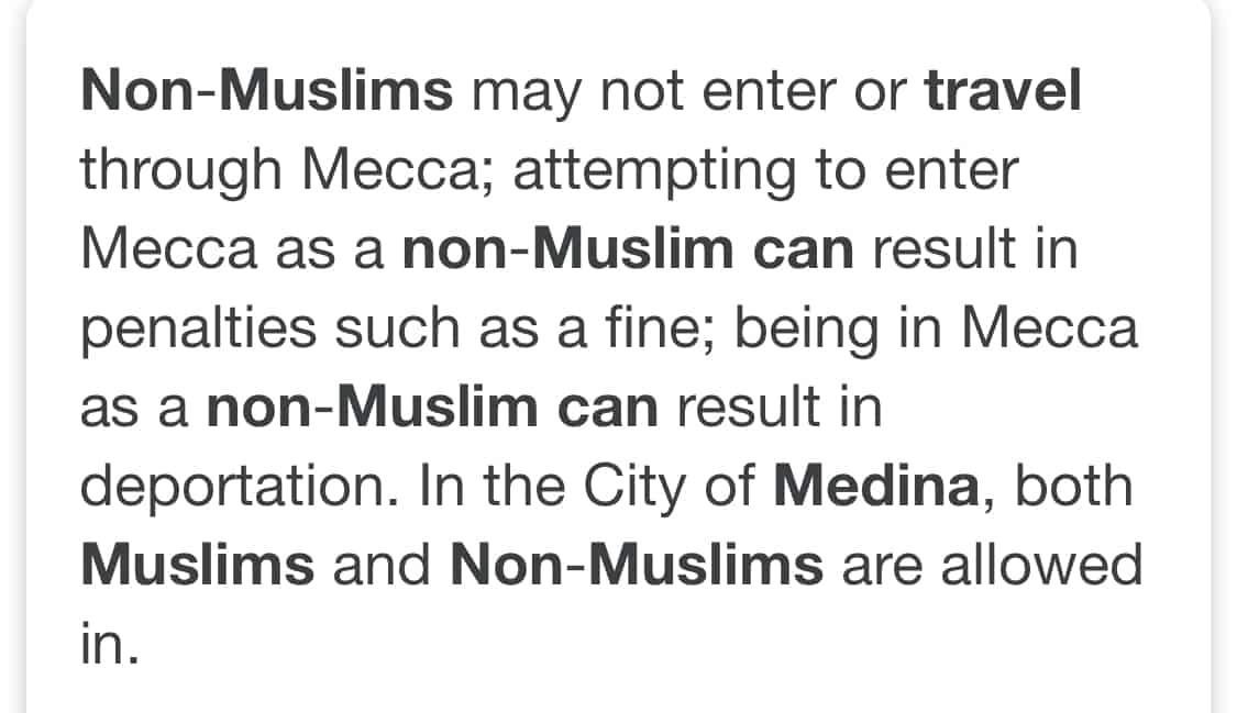 Can non-muslims visit Madinah?