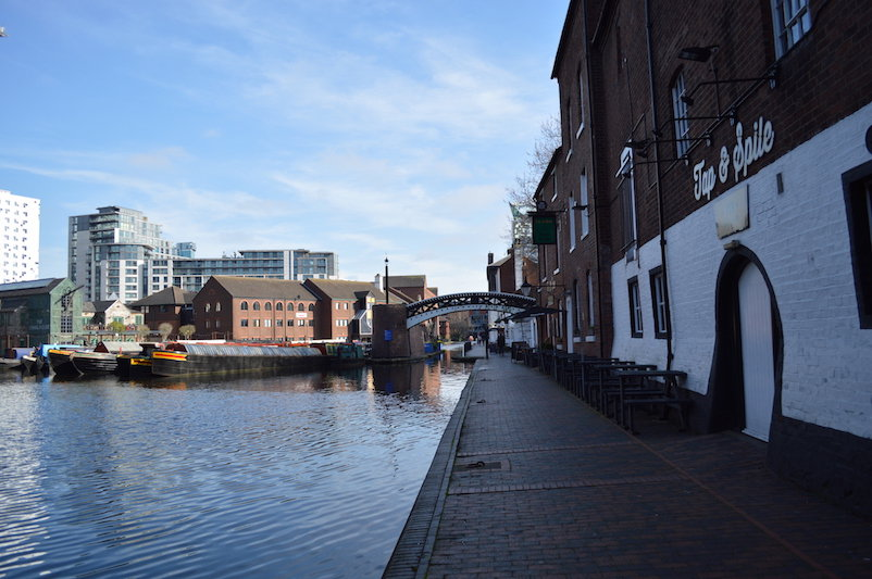 Birmingham canal buildings and sky blue | Birmingham Day Trip from London by train