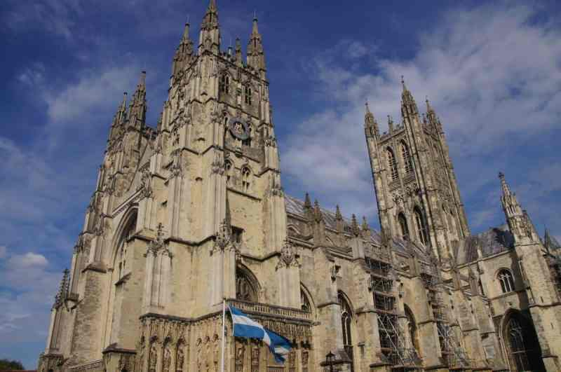 Canterbury cathedral blue sky | Canterbury Day Trip from London by train