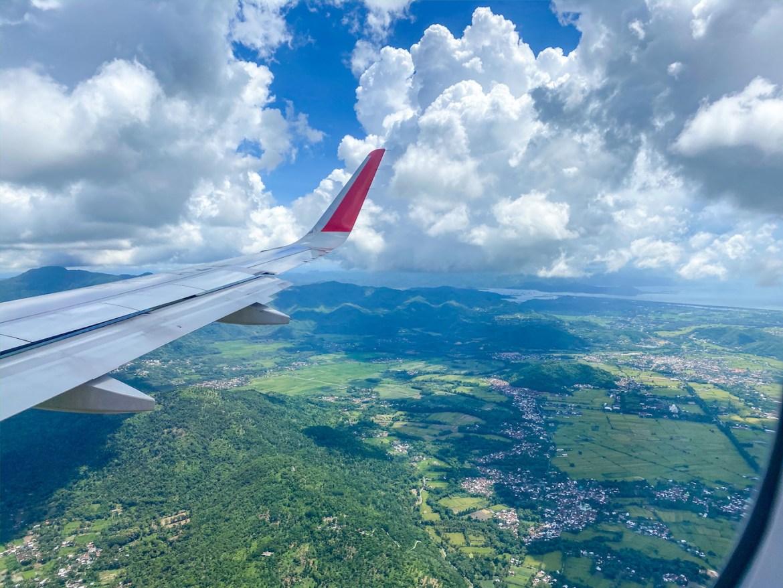 visa extension lombok, flight landing in Lombok Airport