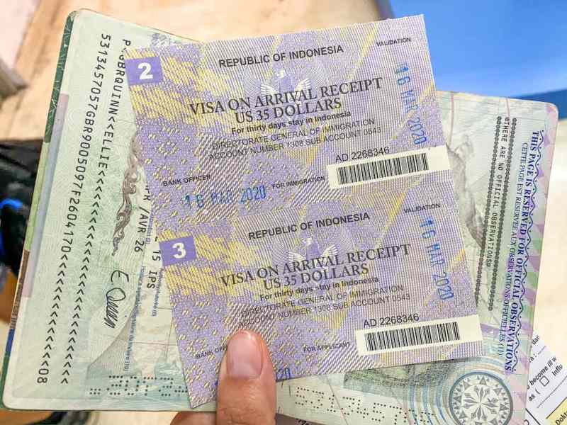 visa extension lombok, VOA Receipt Indonesia