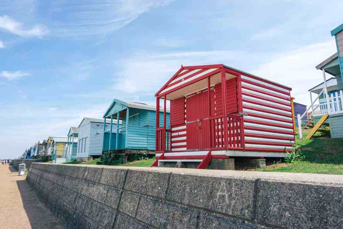 Whitstable colourful beach huts | Whitstable day trip from London by train
