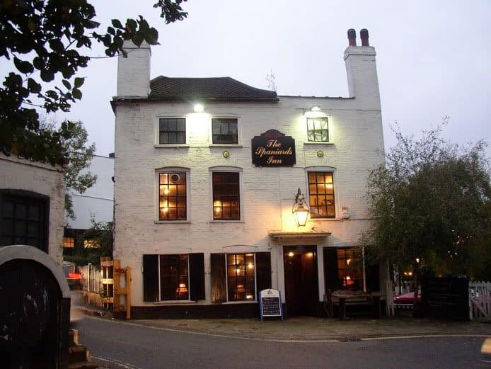 Pubs in Hampstead, The Spaniards Inn Hampstead