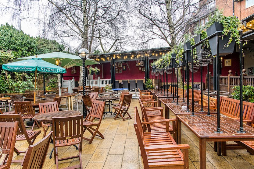 Pubs in Hampstead, the garden gate pub