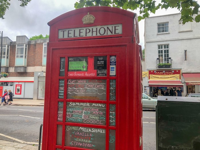 Things to do in Hampstead, Coffee Telephone box