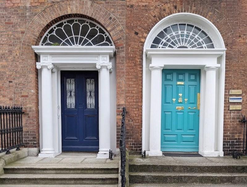 hidden gems in Dublin, Fitzwilliam Square Doors of Dublin
