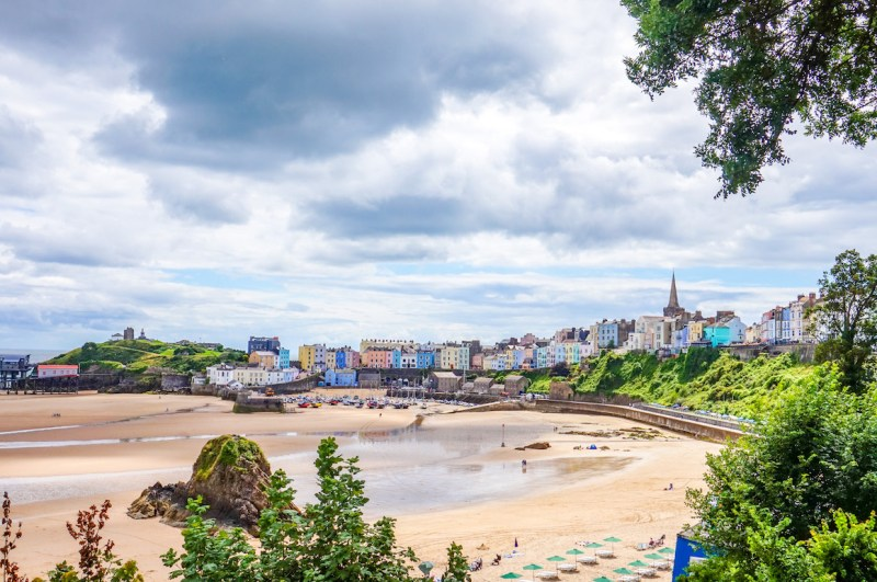 Wales road trip, Tenby beach and town