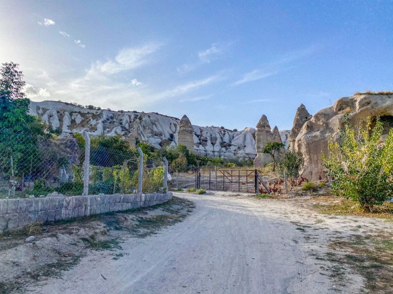 Pigeon Valley Cappadocia, gate and footpath