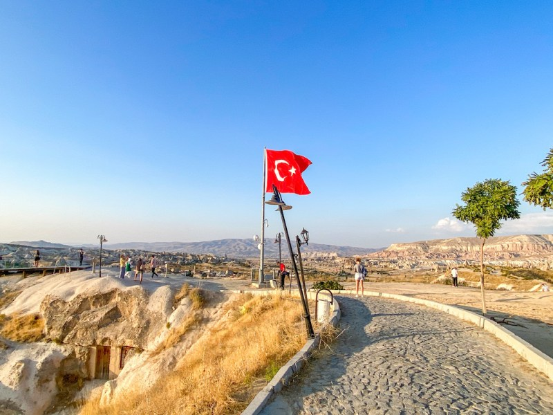 Sunset Point Goreme, Turkish Flag