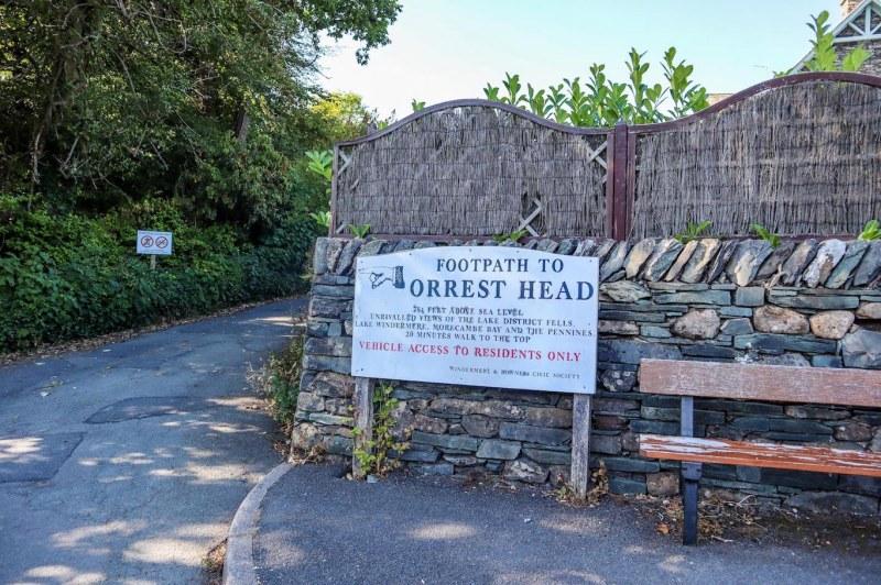 Orrest Head Walk, Orrest Head Sign