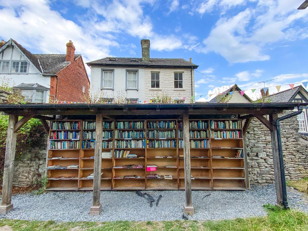 Staycation in Wales, Hay on Wye outdoor book shop