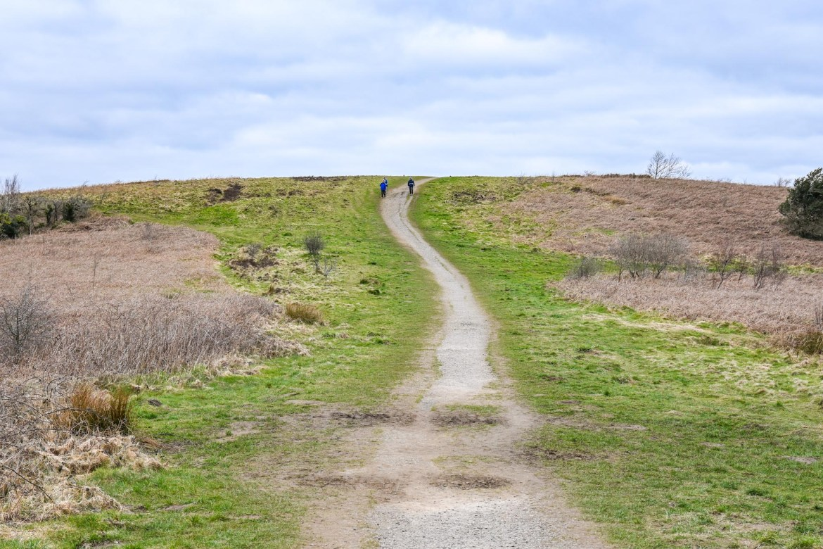 Caerphilly Mountain path to the top